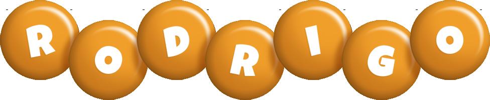 Rodrigo candy-orange logo