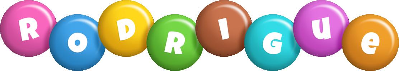 Rodrigue candy logo