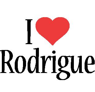 Rodrigue i-love logo