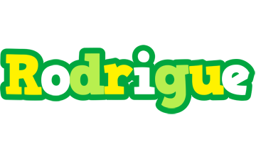 Rodrigue soccer logo