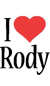Rody i-love logo