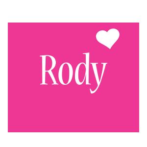 Rody love-heart logo