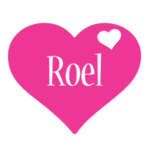 Roel love-heart logo