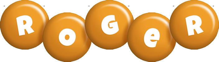 Roger candy-orange logo