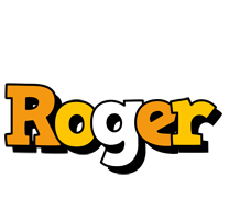 Roger cartoon logo