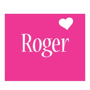 Roger love-heart logo