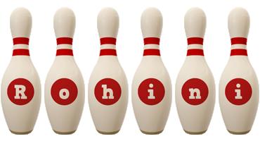 Rohini bowling-pin logo