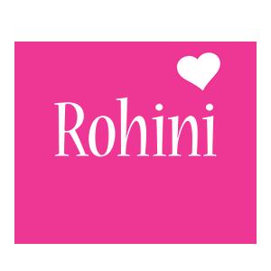 Rohini love-heart logo