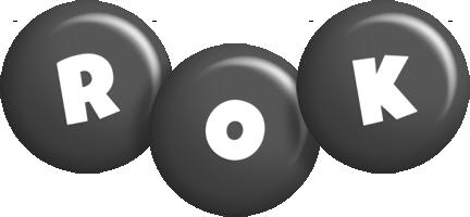 Rok candy-black logo
