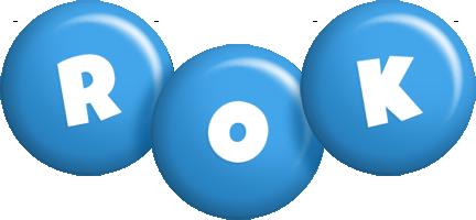 Rok candy-blue logo
