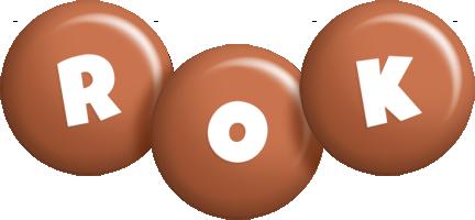 Rok candy-brown logo