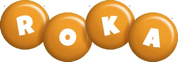 Roka candy-orange logo