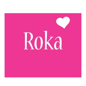 Roka love-heart logo