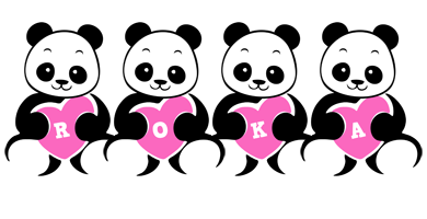 Roka love-panda logo
