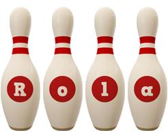 Rola bowling-pin logo