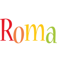 Roma birthday logo