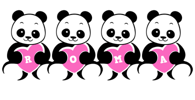 Roma love-panda logo