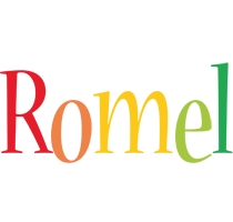Romel birthday logo