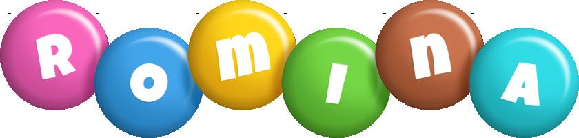 Romina candy logo