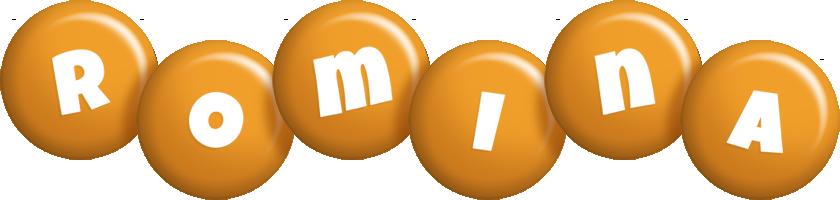 Romina candy-orange logo
