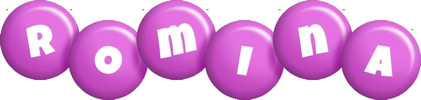 Romina candy-purple logo