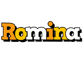 Romina cartoon logo