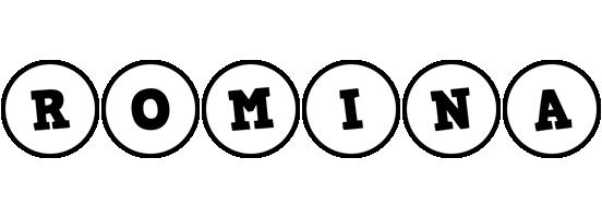 Romina handy logo