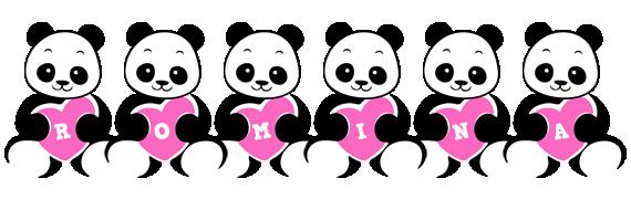 Romina love-panda logo