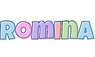 Romina pastel logo