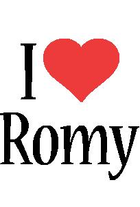 Romy i-love logo