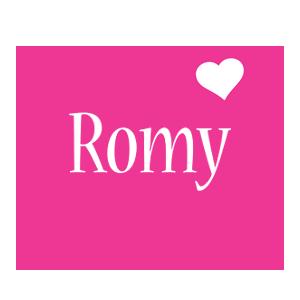 Romy love-heart logo