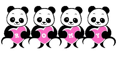 Romy love-panda logo