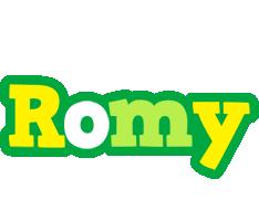 Romy soccer logo