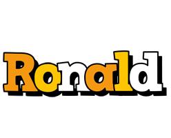 Ronald cartoon logo