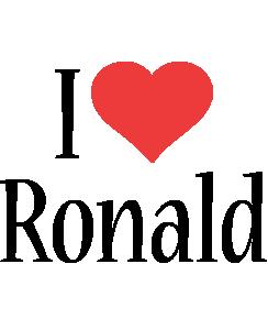 Ronald i-love logo