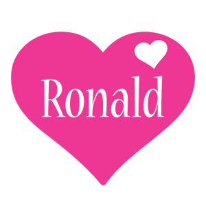 Ronald love-heart logo
