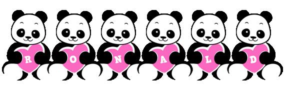 Ronald love-panda logo