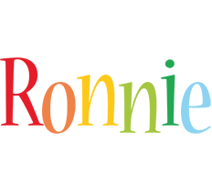Ronnie birthday logo