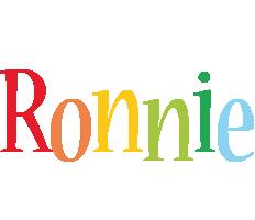 Ronnie birthday logo