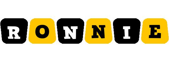 Ronnie boots logo