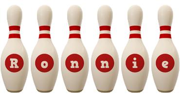 Ronnie bowling-pin logo