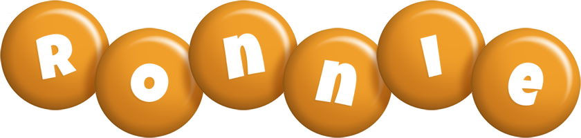 Ronnie candy-orange logo