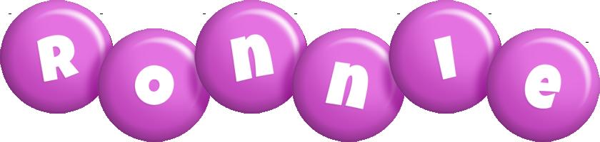 Ronnie candy-purple logo