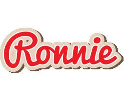 Ronnie chocolate logo