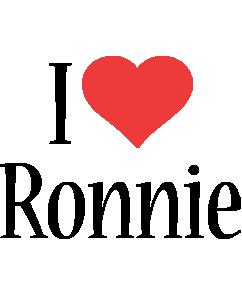 Ronnie i-love logo