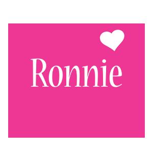 Ronnie love-heart logo