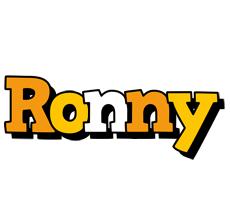 Ronny cartoon logo