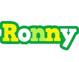 Ronny soccer logo