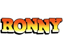 Ronny sunset logo