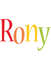 Rony birthday logo